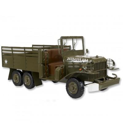 Metallic grüner Militärlastwagen
