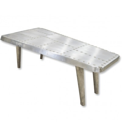 Tavolo da centro aeronautico in metallo