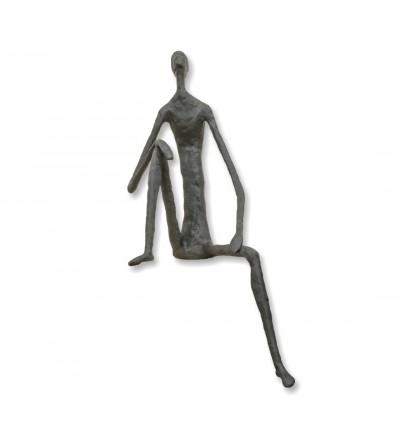 Escultura de bronze de homem sentado Giacometti