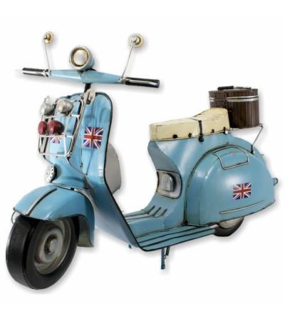 Scooter decorativa azul claro de 63 cm