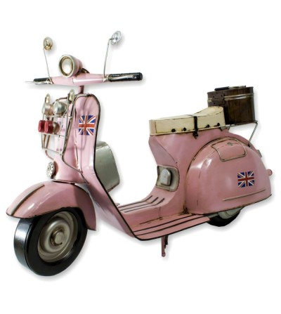 Scooter decorativa rosa 63 cm