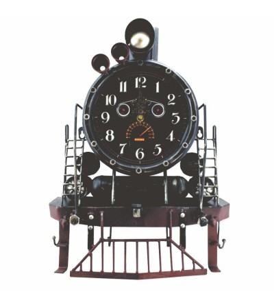 Horloge porte-manteau vintage en métal