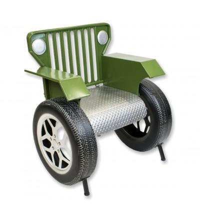 Fauteuil Jeep vert