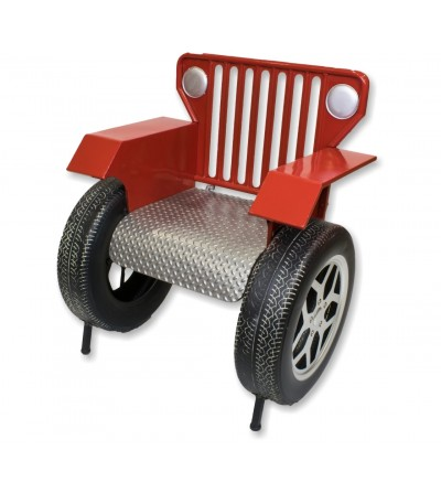 Red Jeep armchair
