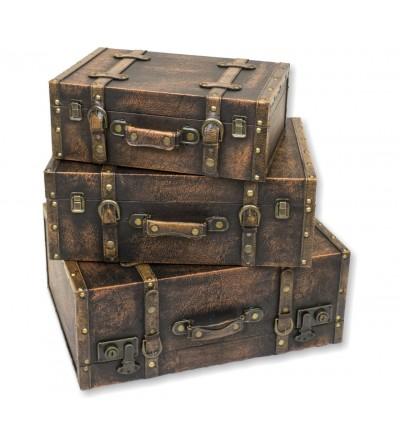 Set 3 valises vintage