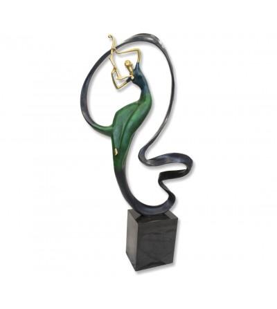 Sculpture de nymphe de musique