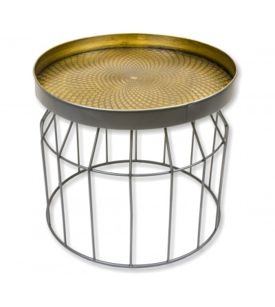 Set 2 low metal tables