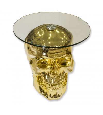 Skull table -Golden-