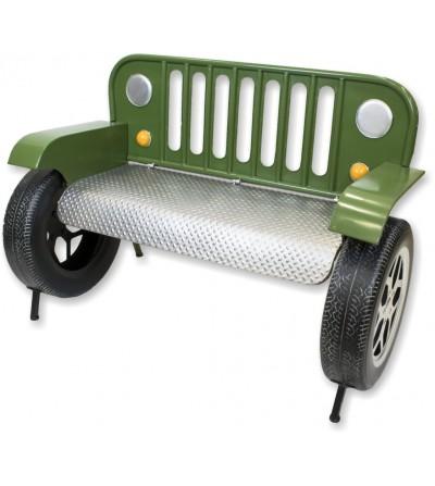 Sofá banco Jeep verde