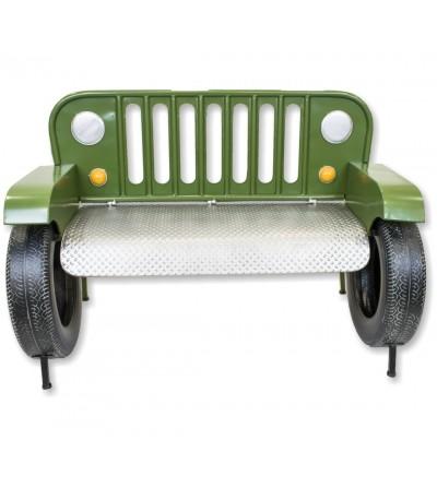 Green Jeep bench sofa