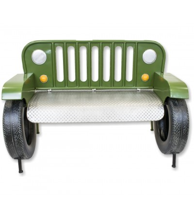 Sofa banco Jeep verde