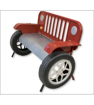 Sofá banco Jeep rojo