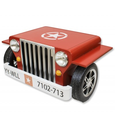 Red Jeep coffee table