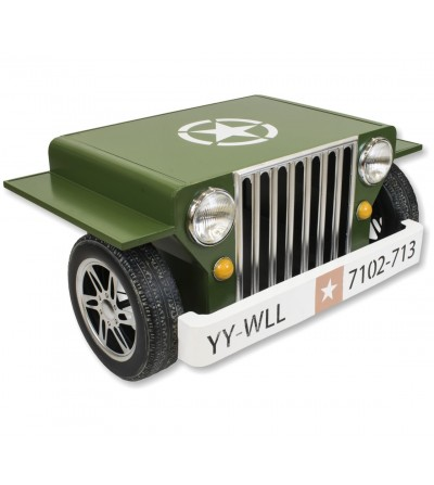 Grüner Jeep Couchtisch