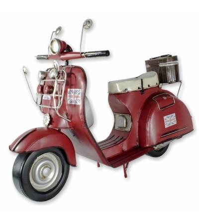 Scooter decorativa 63cm vermelha
