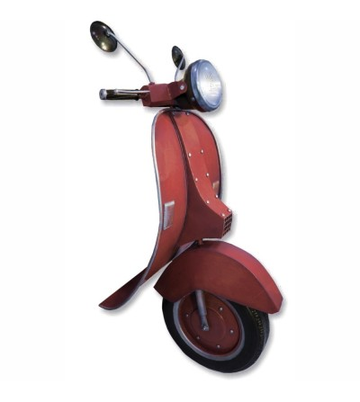 Red Vespa front with light