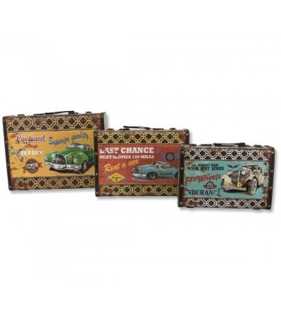 Conjunto de 3 malas vintage