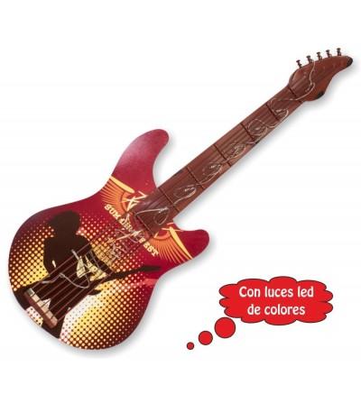 Guitarra decorativa com luzes led