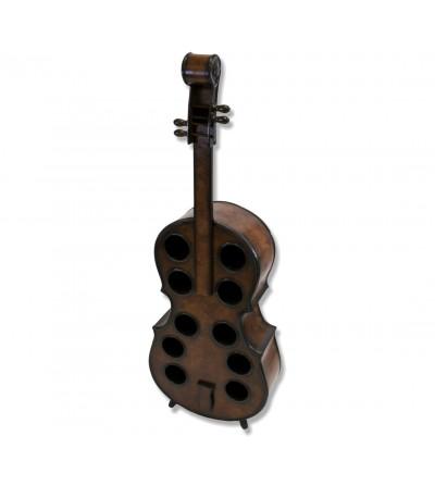 Wooden cello wine rack