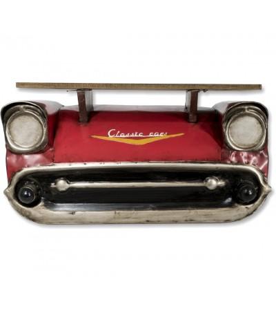 Red metal Chevrolet car shelf