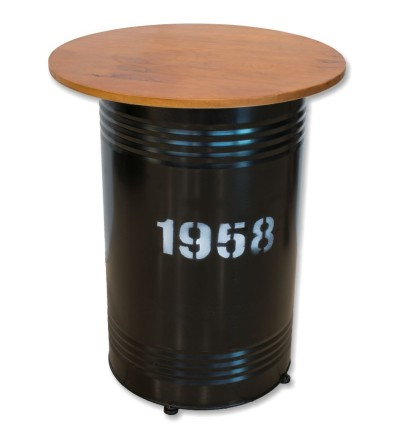 High table canister industrial decoration red