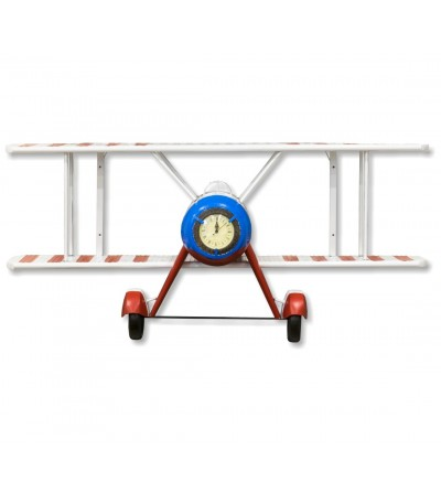 Tricolor airplane clock shelf
