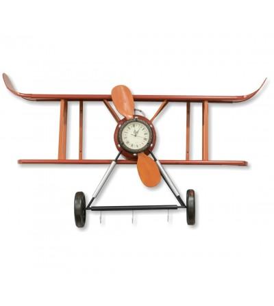 Étagère d'horloge d'avion rouge