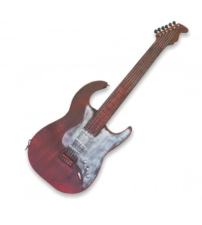 Chitarra decorativa in metallo