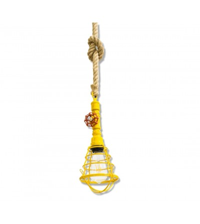 Industrial ceiling lamp with valve