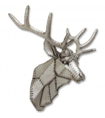Reindeer head wall accent