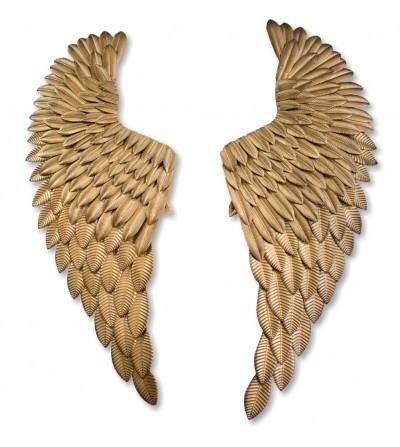 Metallic decorative angel wings