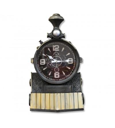 Decorative vintage train clock