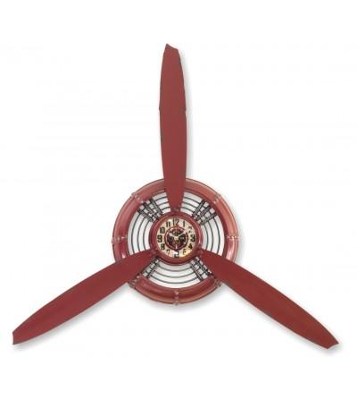 Relógio de hélice vermelha