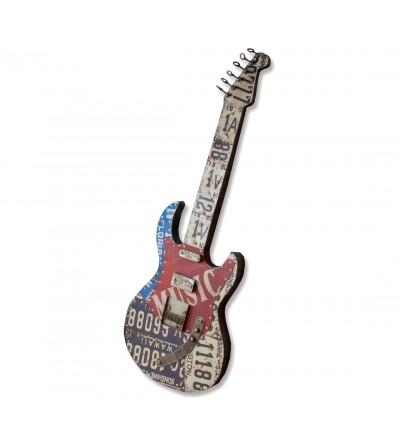 Guitare décorative en métal