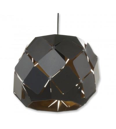 Lámpara de techo negra metálica
