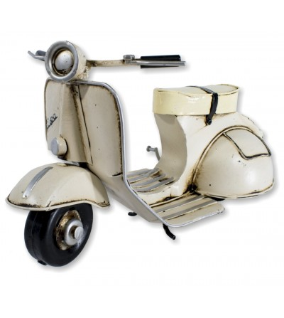 Elfenbein dekoratives Vespa Motorrad