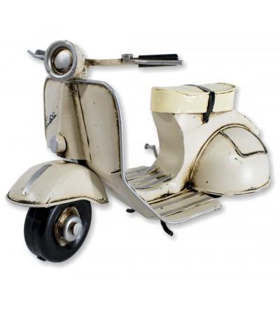 Motocicleta Vespa decorativa marfim