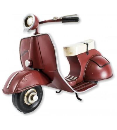 Moto Vespa décorative rouge