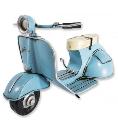 Motocicleta Vespa azul decorativa