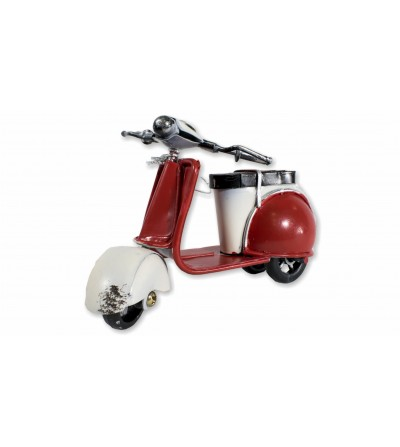 Motocicleta Vespa decorativa vermelha