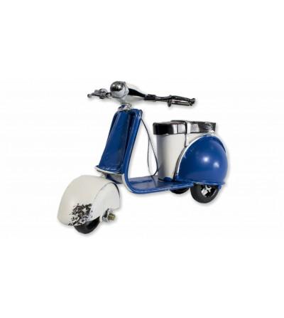 Blue decorative Vespa motorcycle
