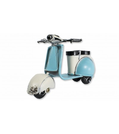 Moto Vespa bleue décorative