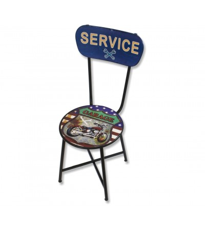 Vintage metal Garage service chair