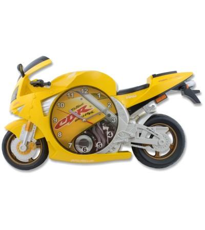 Gelbe Honda cbr 600rr Motorraduhr