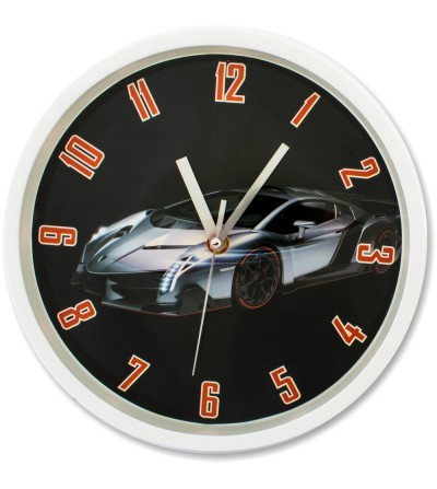 Horloge murale de voiture de sport