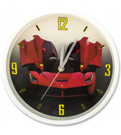 copy of Reloj de pared coche deportivo estampado