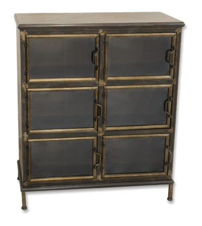 Vintage metal and glass shelf display cabinet