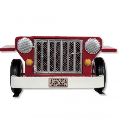copy of Repisa coche Jeep metal rojo