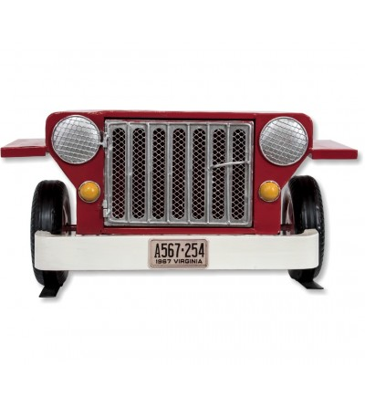 Red Jeep shelf shelf with door