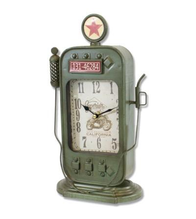 Reloj vintage de mesa surtidor de gasolina